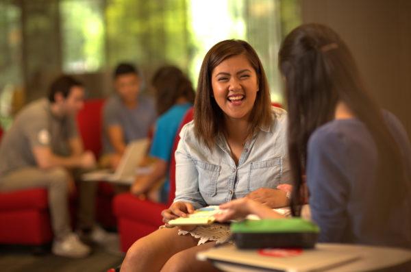 Latina Students Laughing and talking