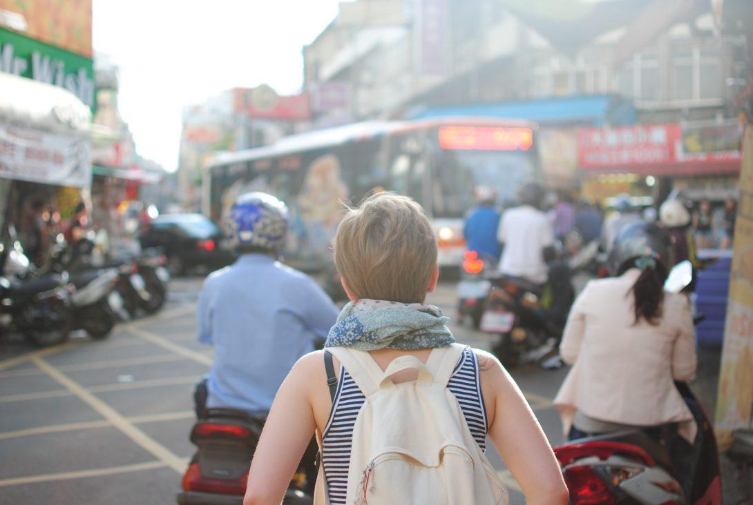 Student in overseas marketplace