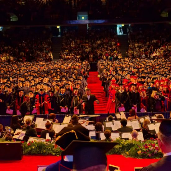 wide shot of UIC graduation ceremony