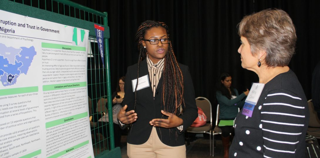 Blessing Obioma presenting her research