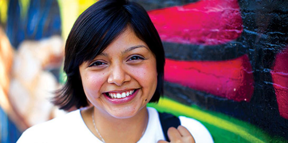 Beautiful Latino UIC student
