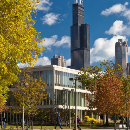 Image of UIC campus building.