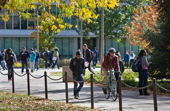 UIC campus in the fall