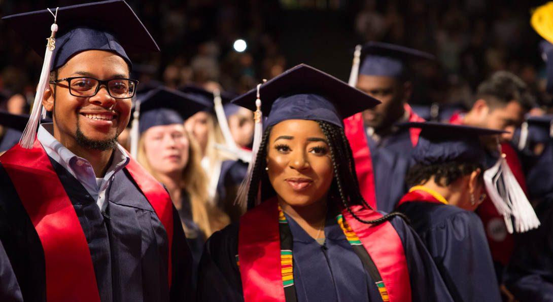 Male and female graduate
