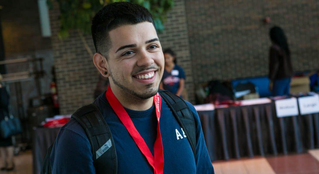 Latino student smiling
