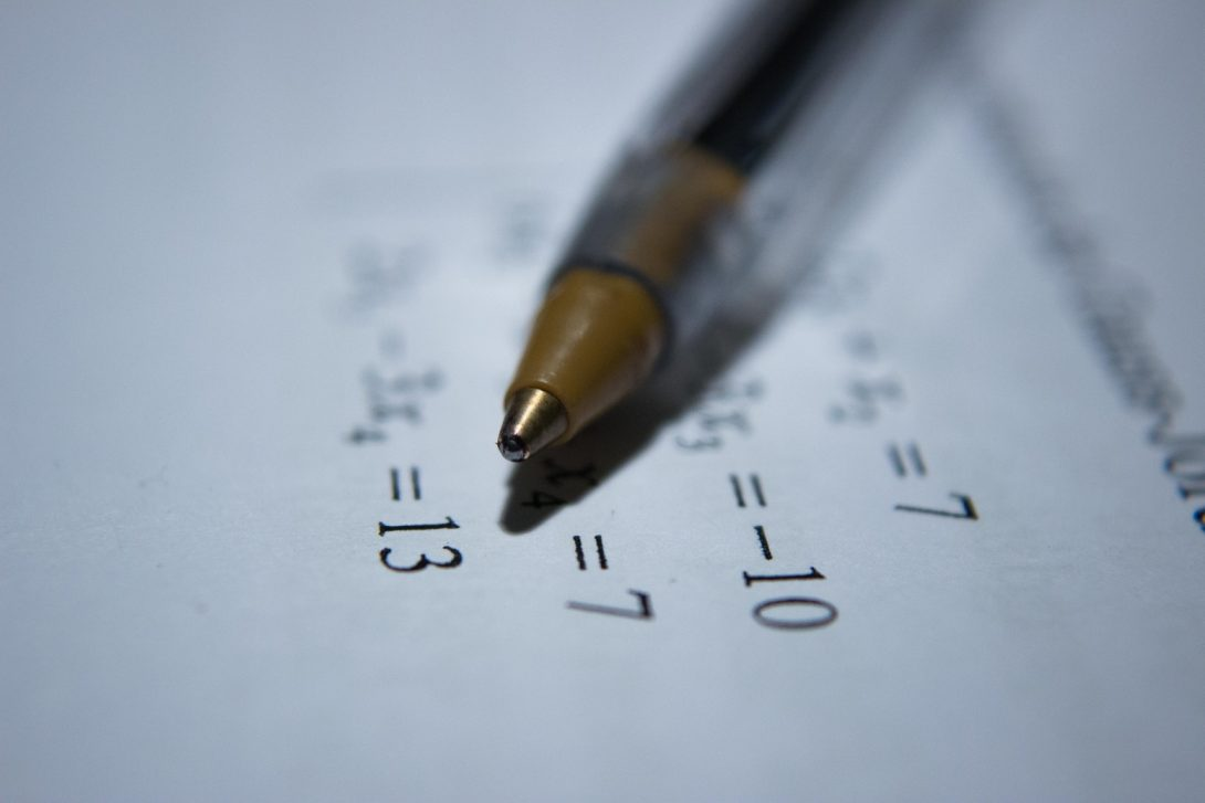 pen and math equations
