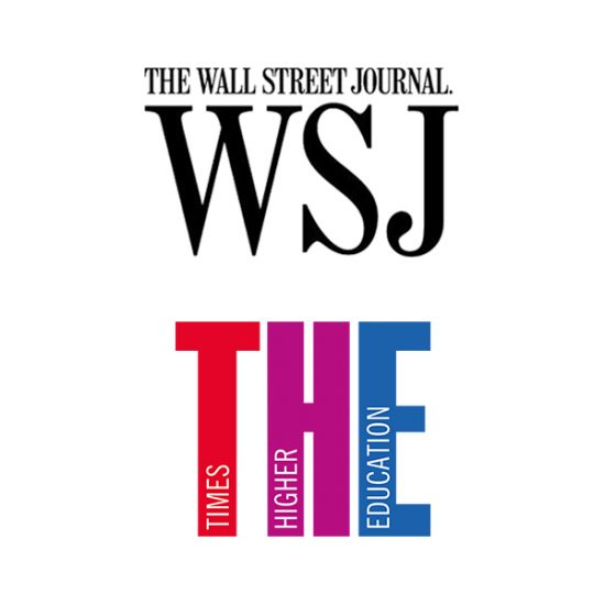 According to Wall Street Journal & Times Higher Education logos