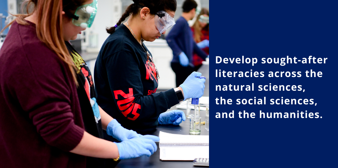 Develop sought-after literacies across the natural sciences, the social sciences, and the humanities.