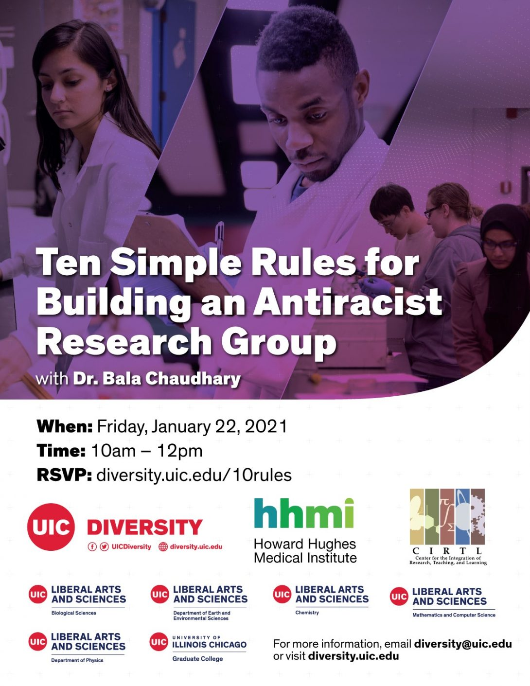 Ten Simple Rules for Building an Antiracist Research Group - RSVP diversity.uic.edu/10rules