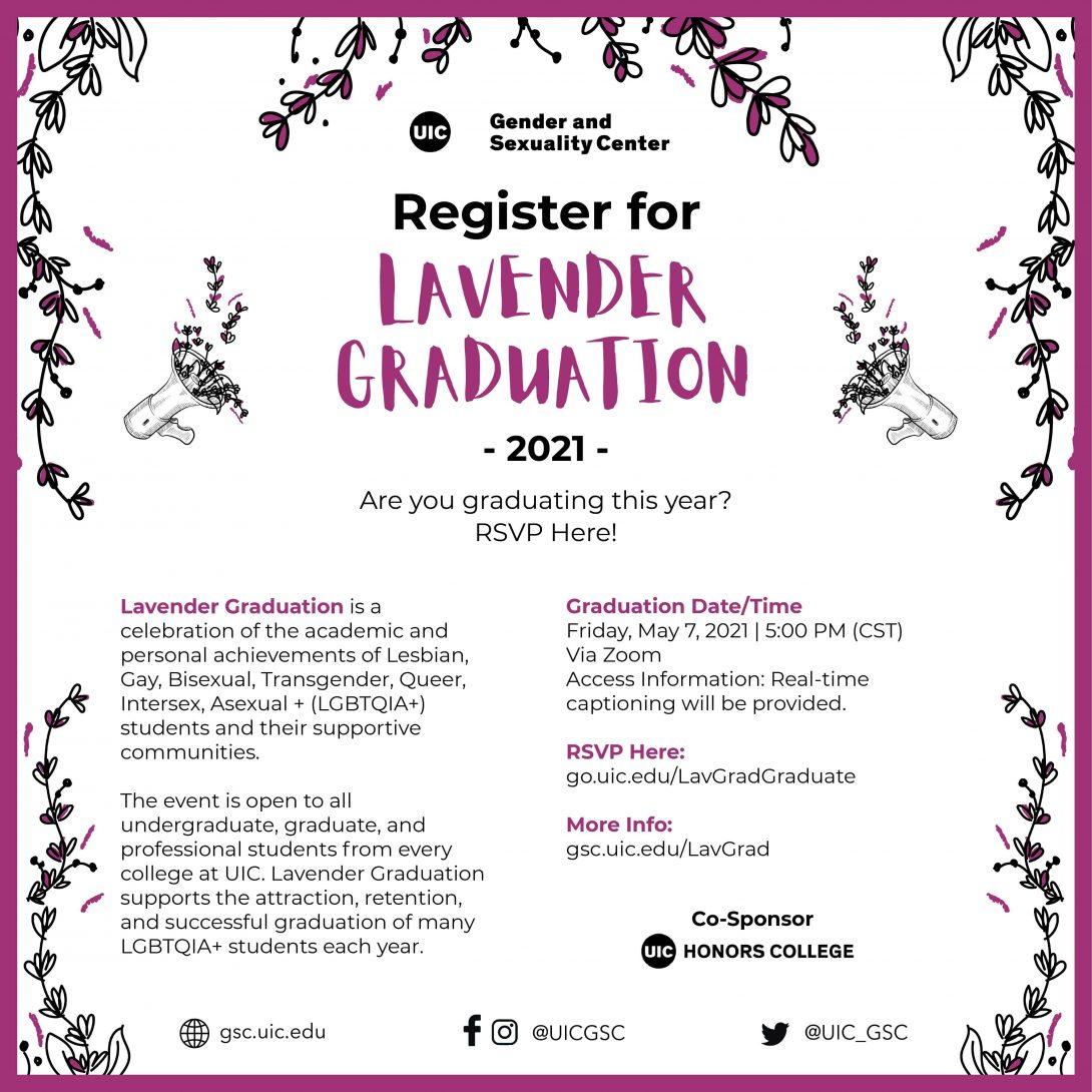 Lavender graduation promotional poster